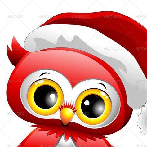 baby owl christmas santa  bluedarkat graphicriver