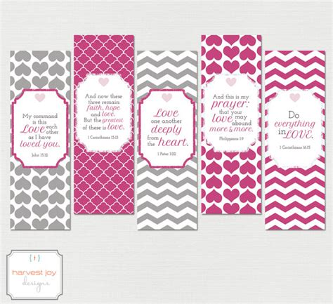 printable bookmarks love items similar to love printable bookmarks set of 5