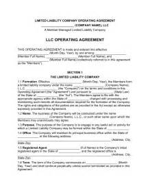 operating agreement llc template free free multi member llc operating agreement template pdf operating agreement 7 free pdf doc download