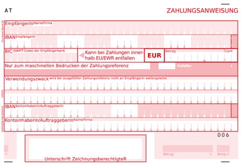 Credit Transfer Form Cqu Payments Oesterreichische Nationalbank Oenb