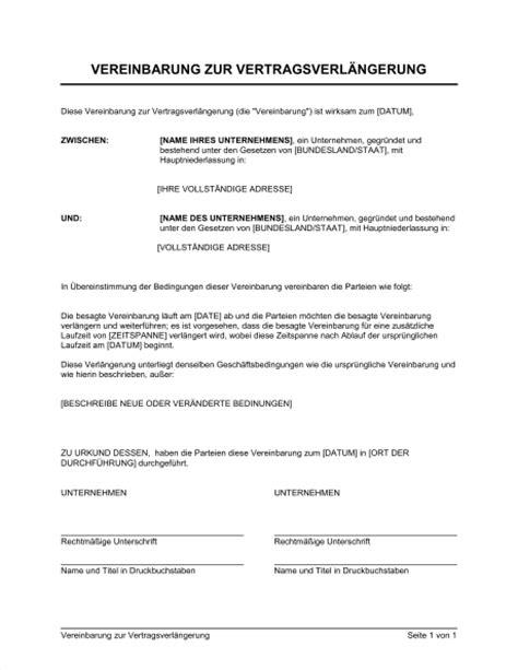 Praktikum Bewerbung Wie Lange Vorher Vereinbarung Zur Vertragsverl 228 Ngerung Vorlagen Und Muster Biztree