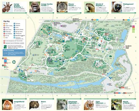 Bronx Botanical Garden Map New York Bronx Zoo And Botanic Garden