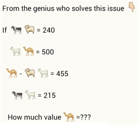 Or Question Through Whatsapp Value Of Camel Puzzlersworld