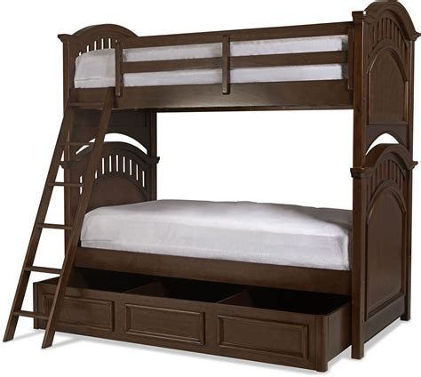 cherry bunk beds brayden twin over twin bunk bed cherry levin furniture