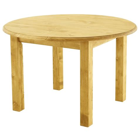 table ronde en pin massif table ronde style montagne pin massif 120 cm avec 2