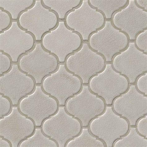 Country Style Bathroom Tiles Fog Arabesque 6mm Mosaics