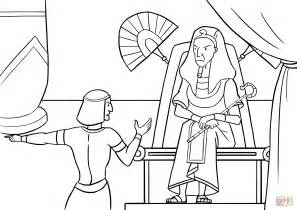 Pharaoh And Moses Coloring Pages by Pharaoh Is Told Of The Flight Of The Israelites Coloring