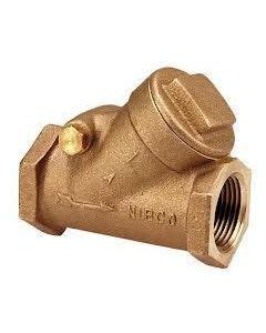nibco swing check valve nibco t 413 y female threaded bronze swing type check