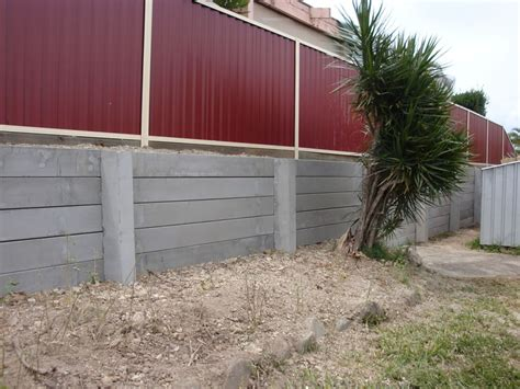 Cement Sleeper Retaining Walls by Australian Retaining Walls Concrete Sleeper Retaining Wall Ashmore Australian Retaining Walls