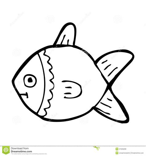 cartoon white cartoon black and white fish