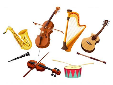 imagenes musicales instrumentos instrumentos musicales vector de objetos aislados