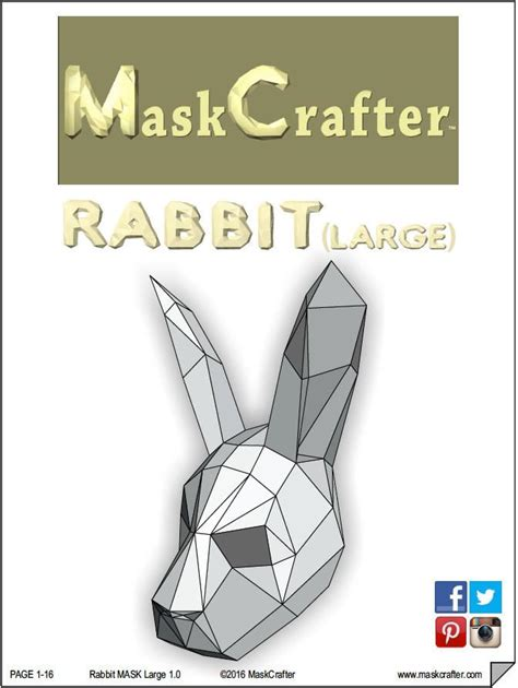 Paper Craft Rabbit - paper bunny rabbit mask papercraft template