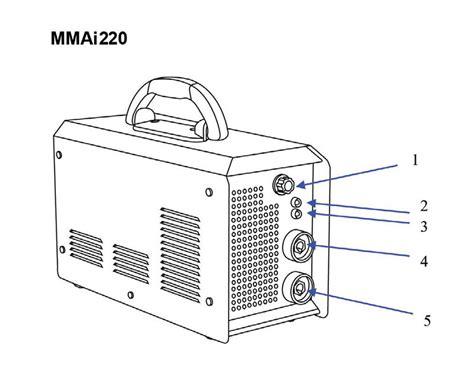 Kabel Massa Inverter Las 1 5m daiden welding inverter machine mesin las mmai 220