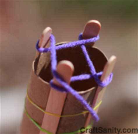 How To Make Sticks With Toilet Paper Rolls - craftsanity on tv spool knitting for you and the