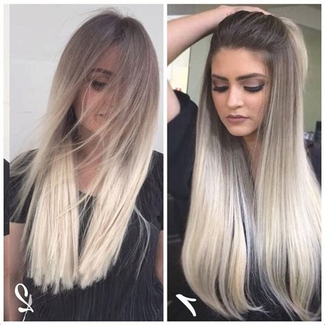 lange blonde frisuren  stilvolle frauen