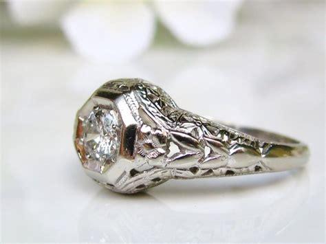 Seprei Motif Orange Blossom 2 vintage engagement ring 0 25ct wedding ring 14k