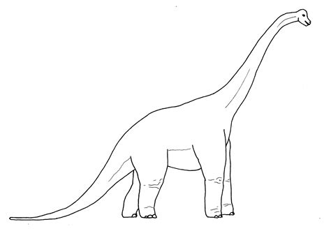 Brachiosaurus Coloring Page brachiosaurus dinosaurs coloring pages for b3y
