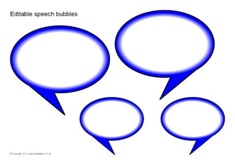 editable speech template editable speech bubbles small sb8889 sparklebox