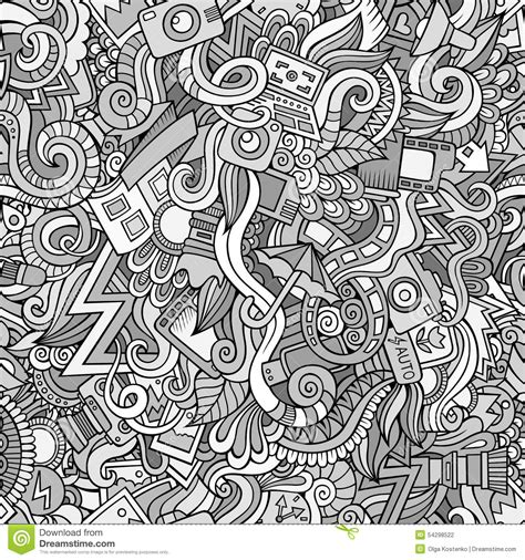 abstract pattern doodles photography doodles cartoon seamless pattern stock vector