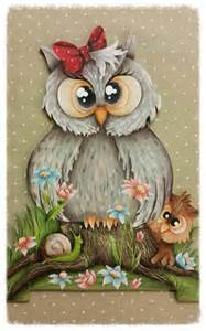 Owl Decoupage - owl whimsical owl and decoupage