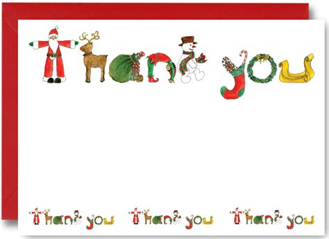 Thank You Cards Christmas Gifts - free printable thank you cards for christmas gifts magnficent sle incredible