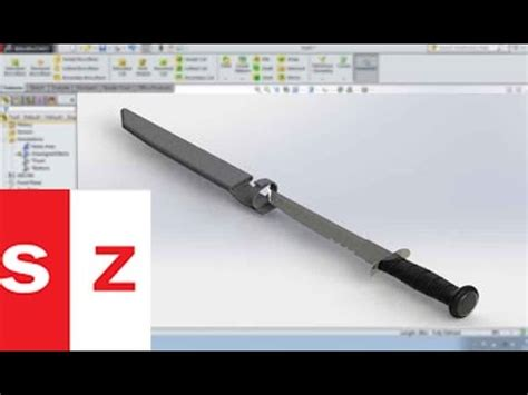 solidworks tutorial knife solidworks knife tutorial youtube