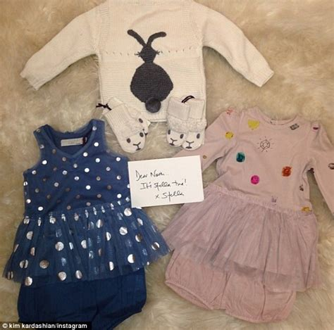 North west showered with gifts from kim kardashian and kanye west s pals daily mail online
