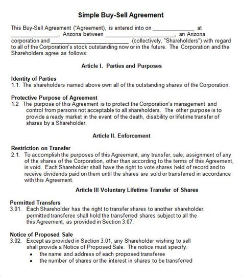 sale of shares agreement template agreement template 27 free word pdf documents