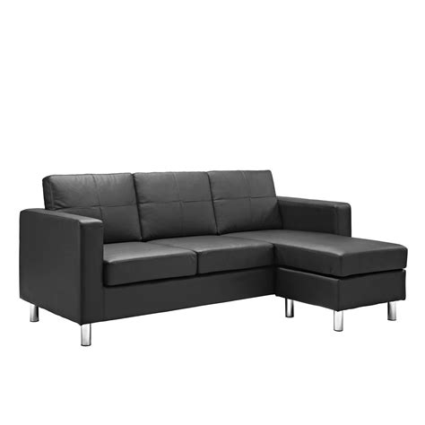 Small Black Leather Sectional Sofa Small Black Leather Sectional Sofa Hotelsbacau