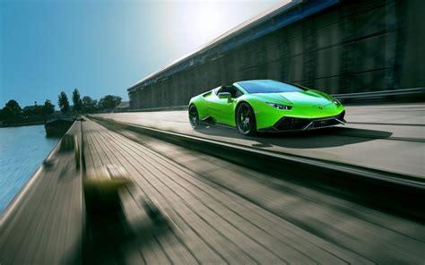 Lamborghini Road Vehicle Wallpaper Lamborghini Huracan Green Road Timelapse