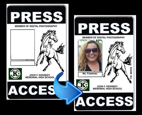 Press Pass Template Cyberuse Press Pass Template
