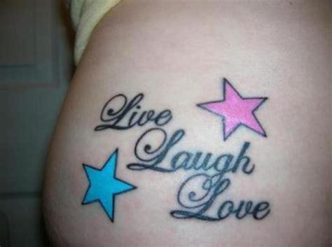 tattoo live laugh love design inspiring words tattoo on waist