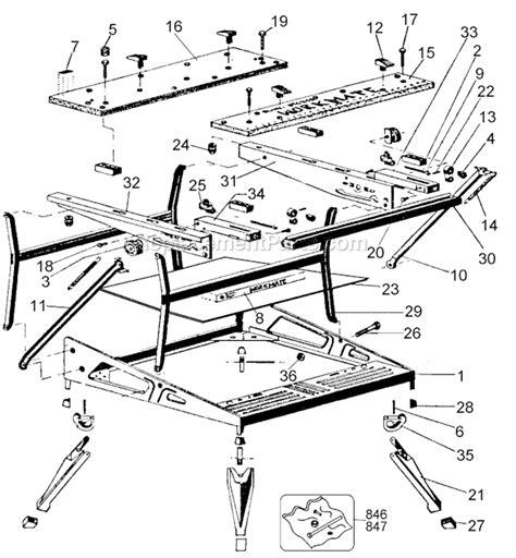 black decker workmate spares black and decker wm400 parts list and diagram type 4