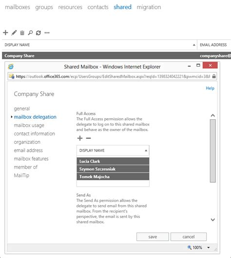 Office 365 Mailbox Delegation What Can Be Synced Between Office 365 Accounts And