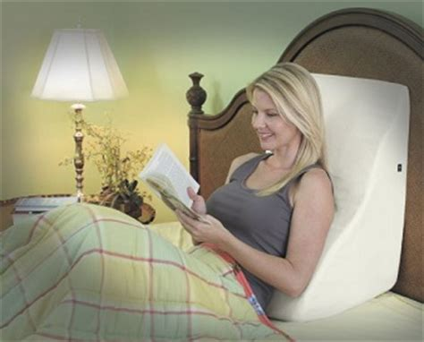 bed sit up pillow unique pillows to help you get a good night sleep