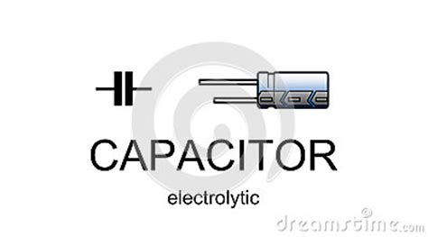 capacitor symbol with arrow electrolytic capacitor icon and symbol stock image image 27014451