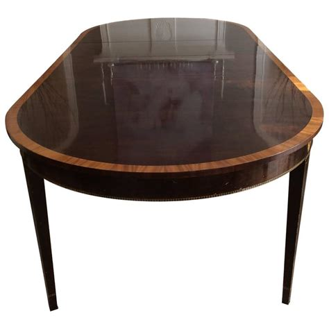 Dining Table With Two Leaves Stickley Oval Dining Table With Two Leaves At 1stdibs