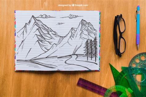 descargar imagenes a lapiz gratis dibujo a l 225 piz de monta 241 as con gafas bol 237 grafo y reglas