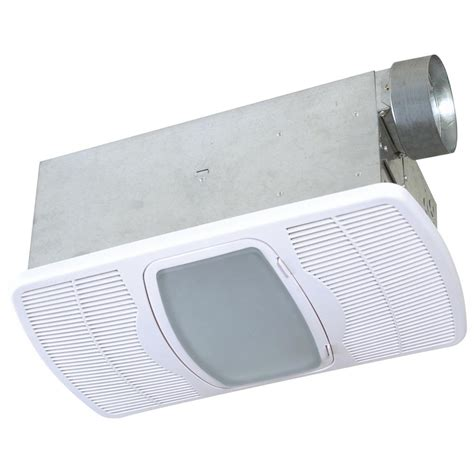 Bathroom Fan With Light And Heater Nutone 70 Cfm Ceiling Exhaust Fan With Light White Grille And Bulb 769rl The Home Depot