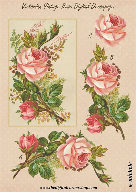 Decoupage Paper Flowers - 968 best 3d flowers images on 3d sheets 3d