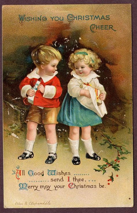 images  ellen clapsaddle elina ellis  pinterest christmas postcards