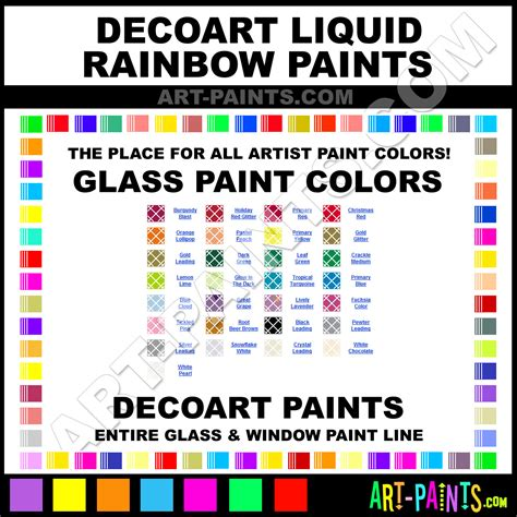 decoart liquid rainbow glass and window paint colors stains inks stained glass decoart
