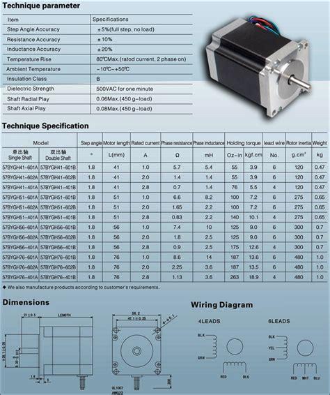 Stepper Motor Nema23 1 new nema 23 4 wire stepper motor 2 2 nm 1 8degre 93mm