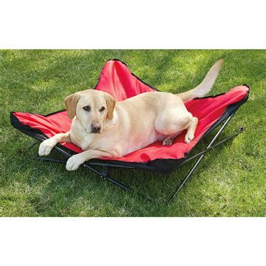 backpacking dog bed coleman 174 pet lounger red black 225858 kennels beds