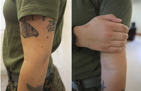 can you have tattoos in the marines marines will be handing out waivers to prior