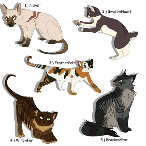 warrior cats warrior cats adoptables images