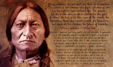 Native American Indian Home Decor sitting bull warrior quote