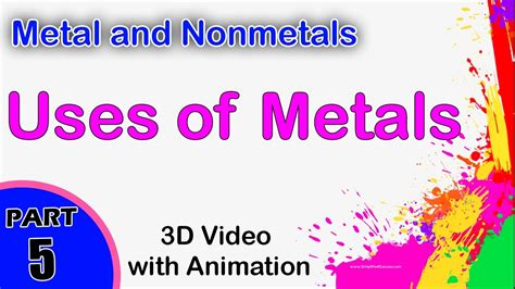 uses of uses of metals metal and nonmetals cbse 12 physics