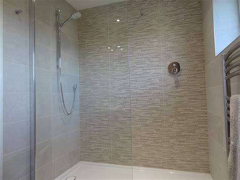 large walk  shower  curtis brothers bathrooms