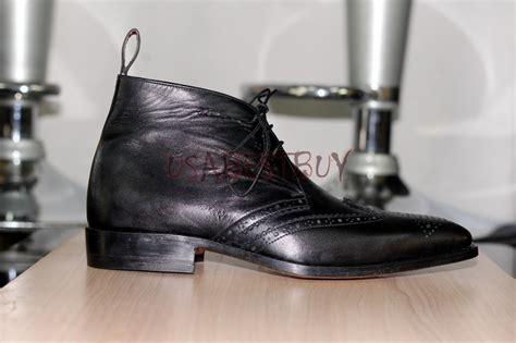 Handmade Chukka Boots - custom handmade mens chukka leather ankle boots boots